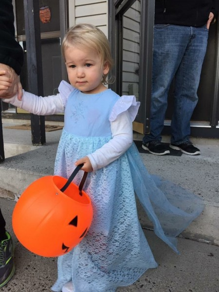 Our Niece on her second Halloween