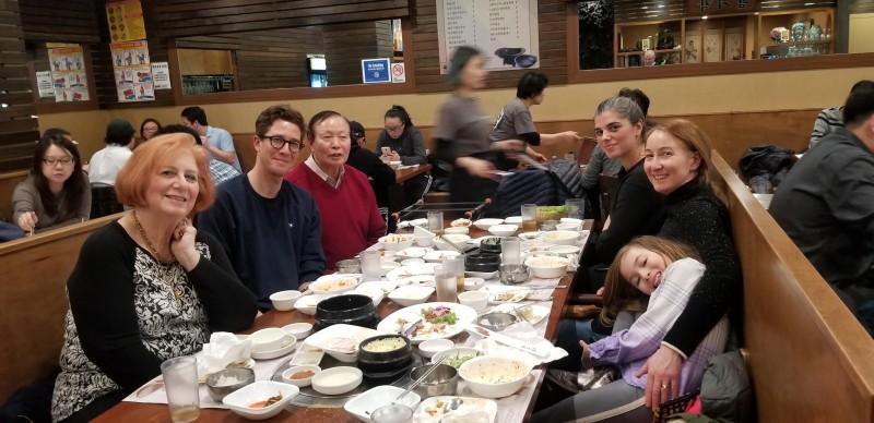 We love sharing Korean food with David's family!