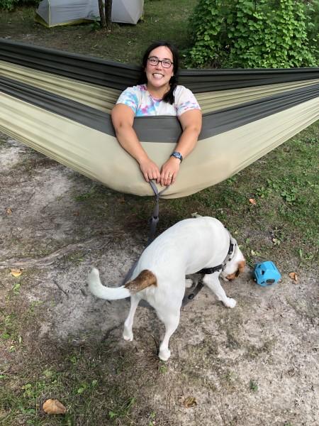Camping, hammock-style