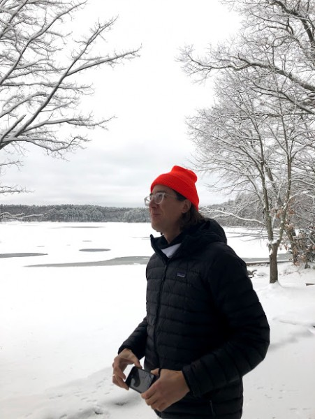 David at Walden Pond. He attributes his love of nature in part because of the book On Walden Pond.