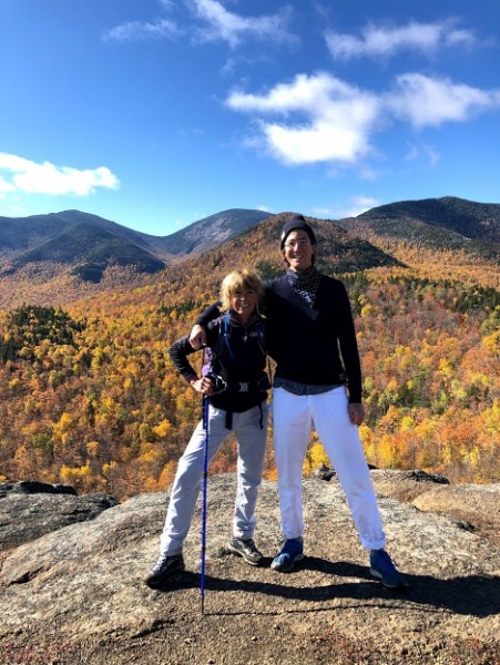 Every year we do a hiking weekend with Aeriel's mom and step-dad. Here's David with Aeriel's mom!