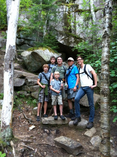 Hiking is a family affair in both Aeriel and David's family!