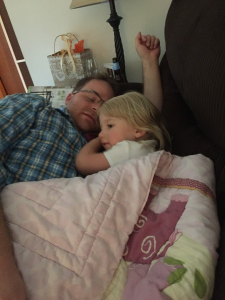 Nap time with Uncle Jer