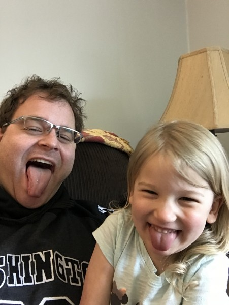Jeremy and Abby being silly!