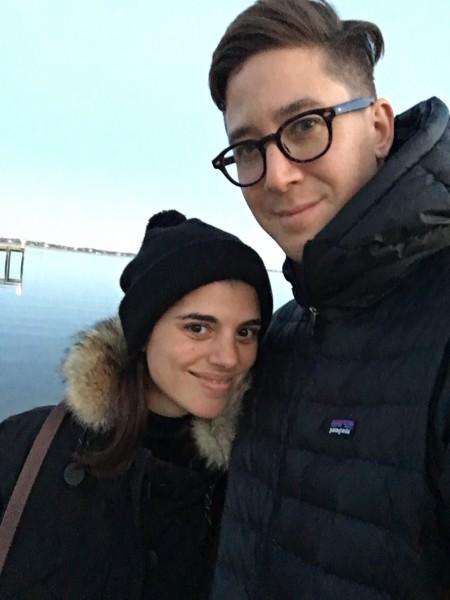 Cold beach selfies