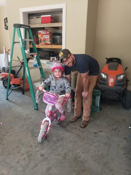 Riding bike without training wheels