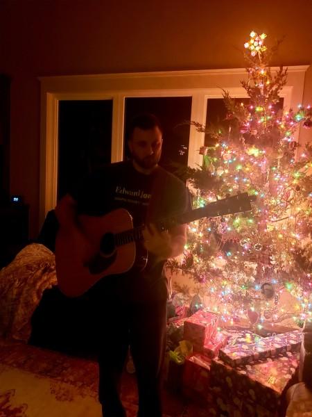 Evening guitar playing