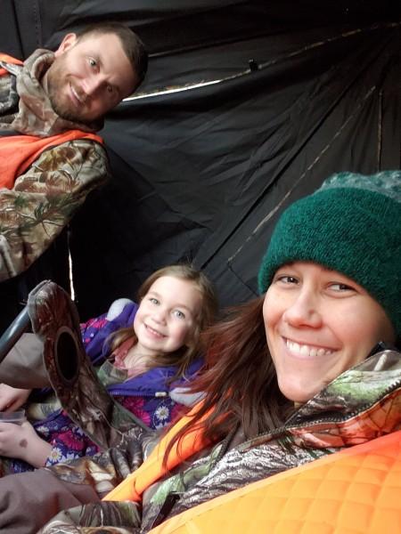 Family deer hunting.