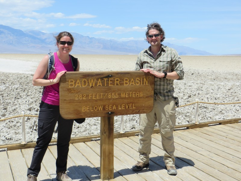 Below sea level in death valley national park