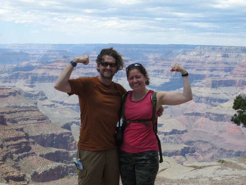 Conquering a hike in the grand canyon