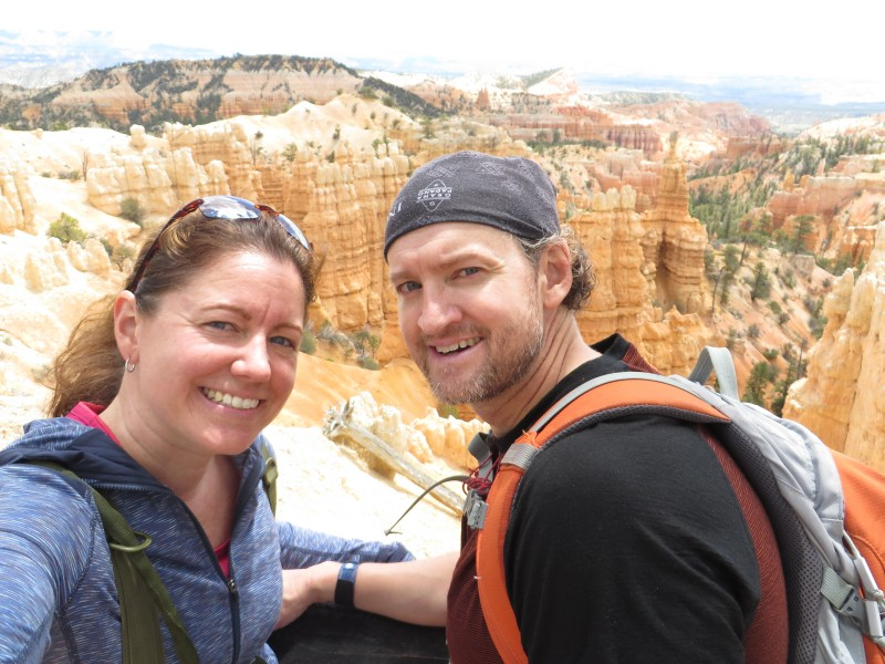 On a hike in bryce canyon