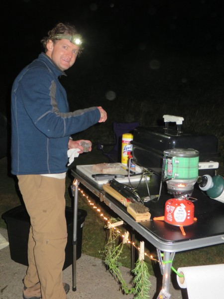 Robb cooking at the campsite