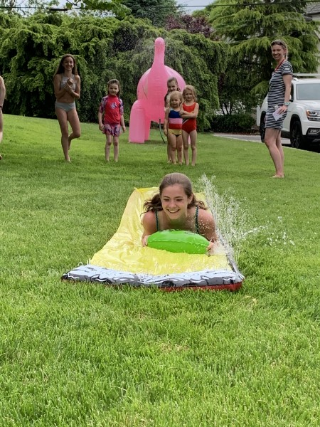 An epic slip-n-slide afternoon