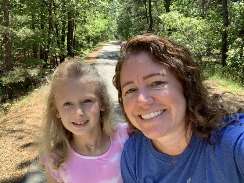 Enjoying some special Godmother-Goddaughter time on a nature walk!