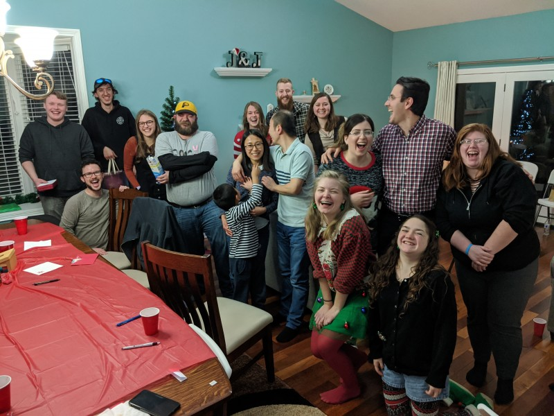 A Christmas party in our home