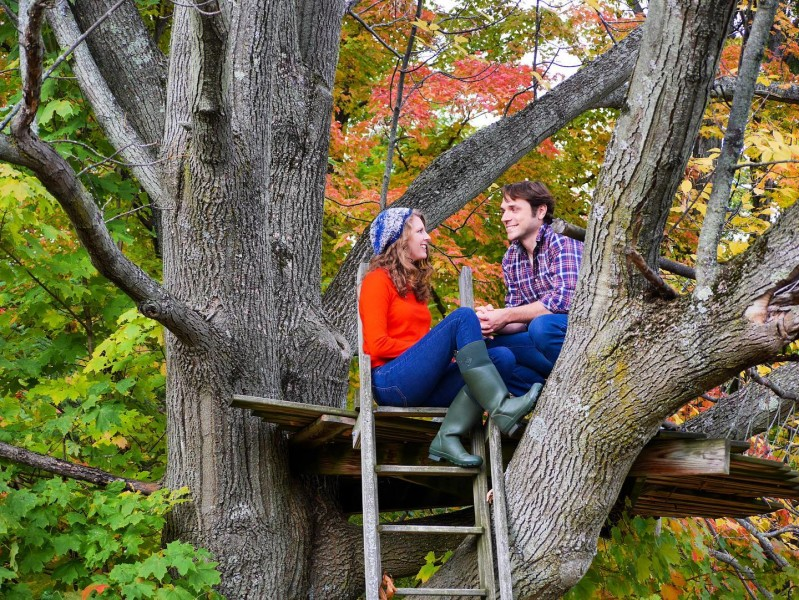 """No such thing as """"too old"""" for a tree fort!"""