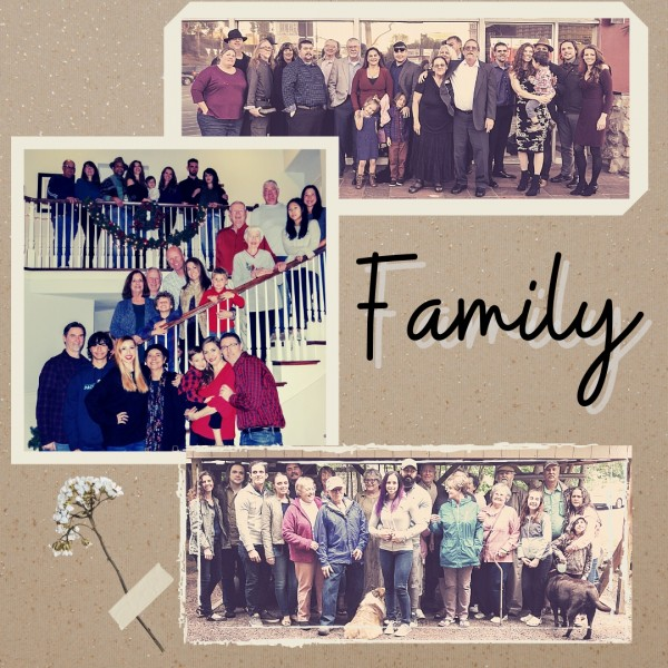 Between us, we have more than 30 aunts and uncles, and too many cousins to count! This is just a few of them.