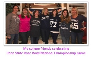 My college friends celebrating Penn State National Championship game