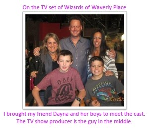 Brought my friend Dayna and her boys to meet the cast on Wizards of Waverly Place where Selena Gomez launched her career