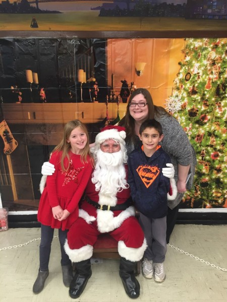 Santa with Rebecca and Lucas