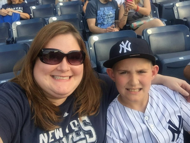 Aunt Laura and Brian at Yankee game