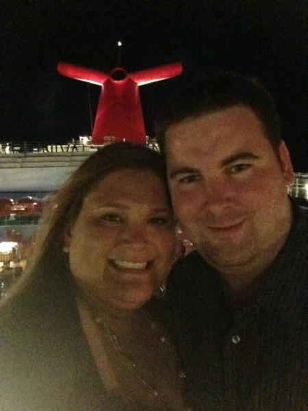 Laura and Andrew on a Carnival Cruise