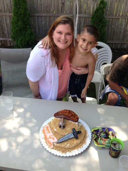 Lucas's Spartacus Cake