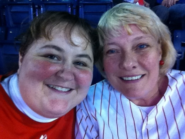 Friends - lujean and i at the phillies