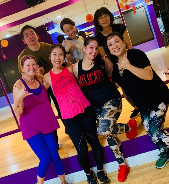 Another successful Kay Zumba class after work