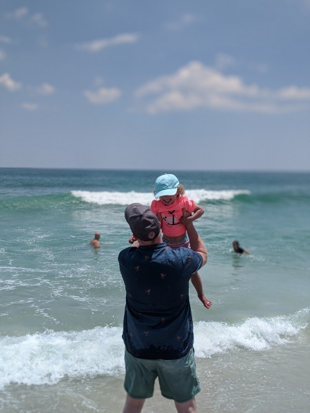 A day at the beach with our family!