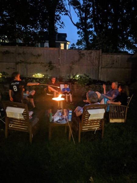 We love s'mores with friends and family around our fire pit!