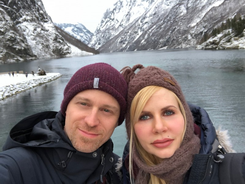 In Norway exploring the fjords!