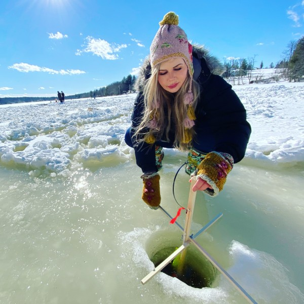 Ice fishing in upstate New York