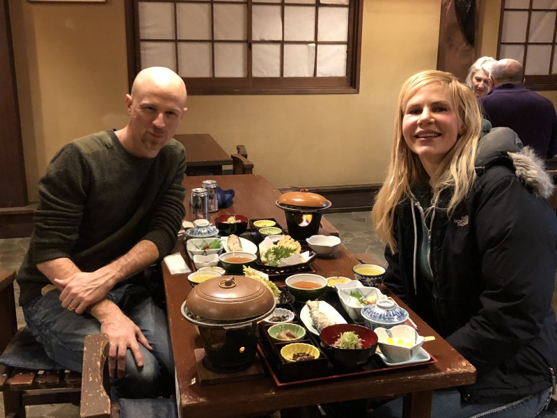 in Japan enjoying best sushi ever