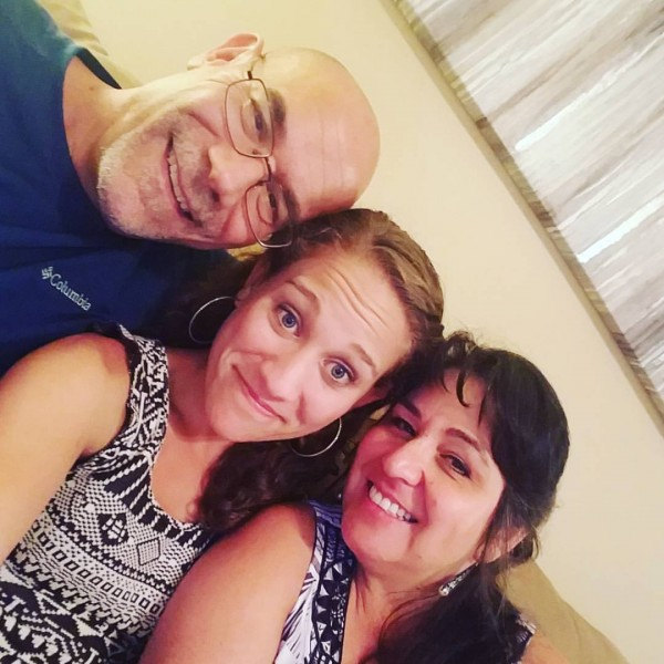 Libby with her parents