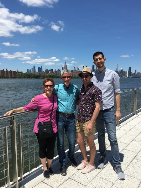 With Jonathan's parents in Brooklyn
