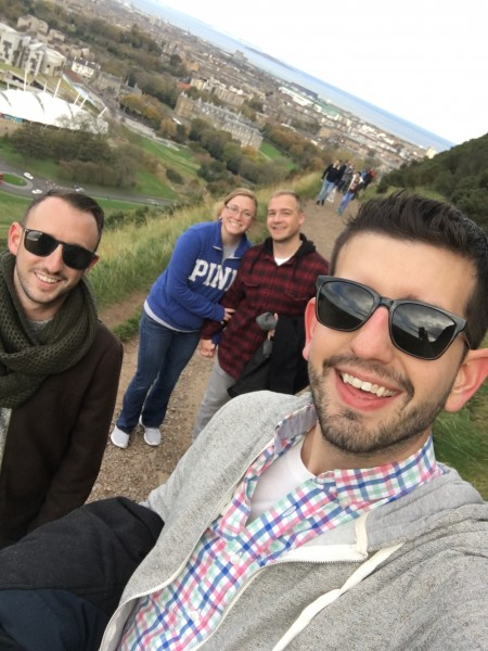 Hiking in Scotalnd with friends