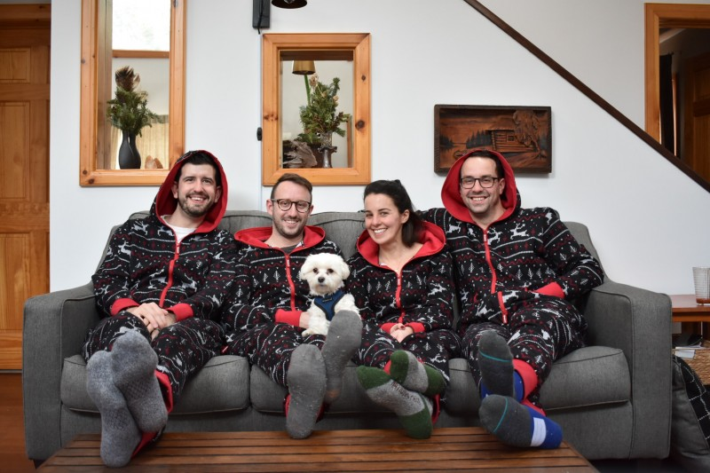 Matchine onsies with our chosen family