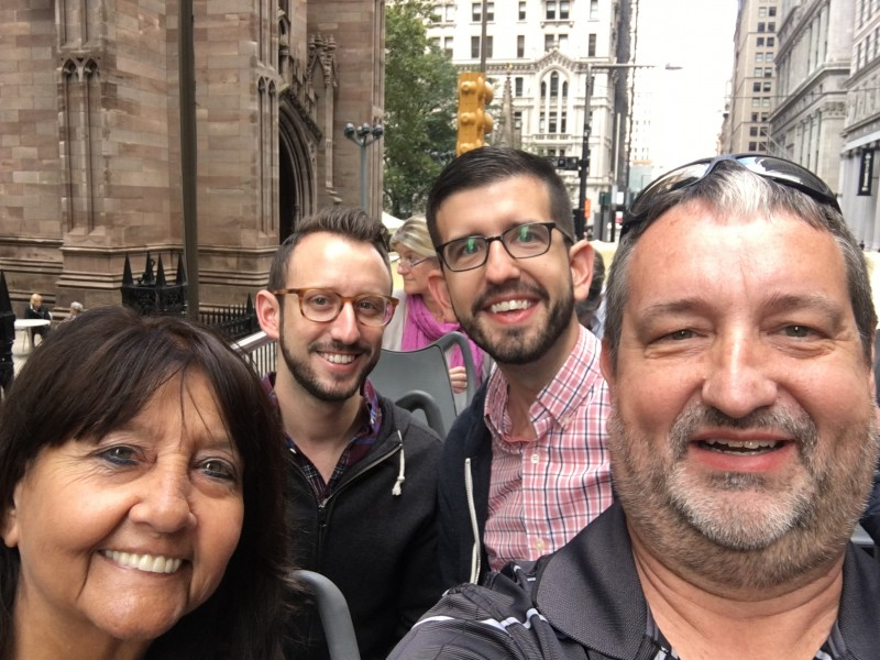 Bus tour of NYC with Phillip's parents