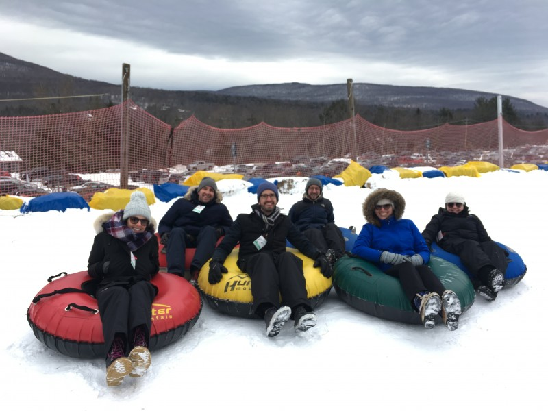 Tubing with friends in upstate NY
