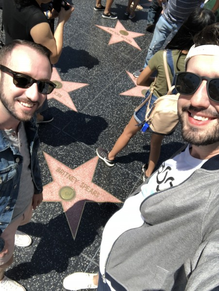 Seeing Britney Spears' star on the Walk of Fame in Hollywood