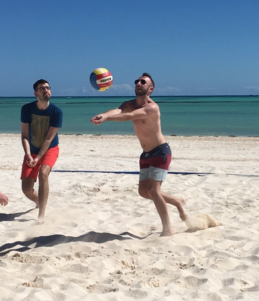 Beach volleyball on vacation in the Dominican Republic