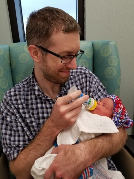 Daddy Scott with Quinton on our first day with him (2018)..