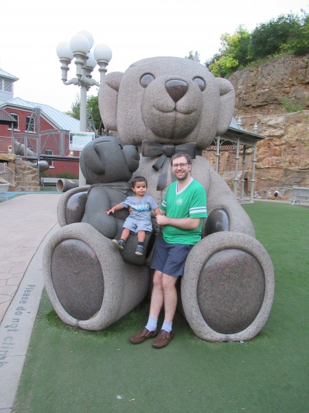 Scott with Quinton at a local park we enjoy.