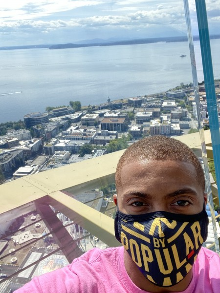 Marcus at the Space Needle in Seattle, WA