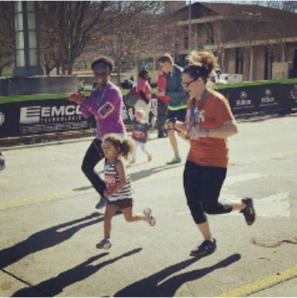 Running with my sister-in-law and my niece for her 1st race!