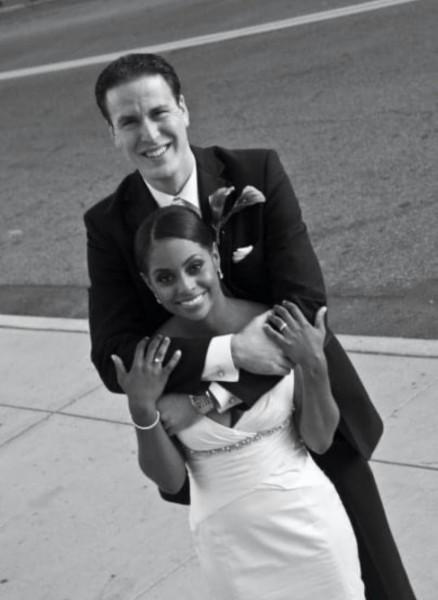 Adoption - our wedding black and white