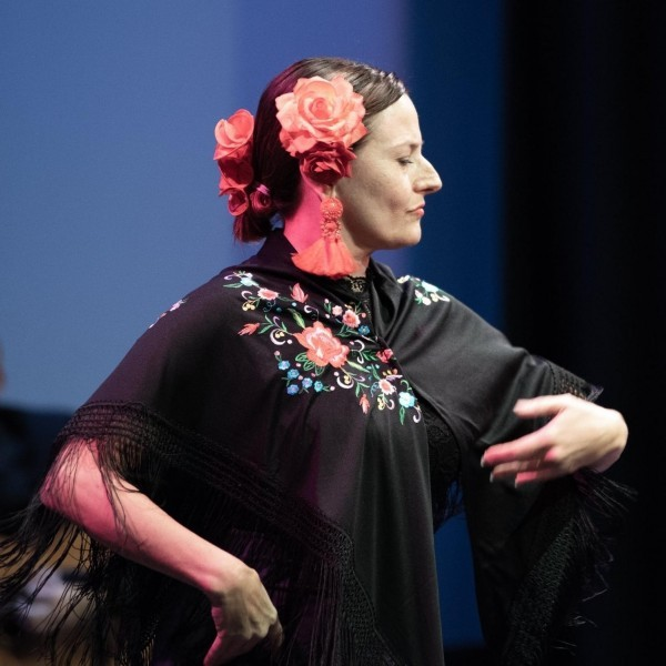 Ole! a moment during my last flamenco dance performance!