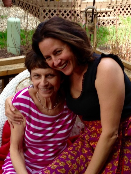 A precious moment with Mom