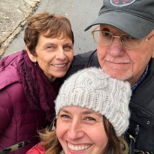 Winter's day hike with Mom & Dad
